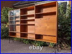 Y Mid century teak shelving display bookcase unit in teak vintage retro Meredew